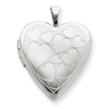 Sterling Silver 20mm with Floating Hearts Heart Locket chain