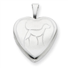Sterling Silver 16mm Dog Heart Locket chain