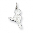 Sterling Silver Boy Martial Arts Charm
