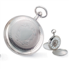 Charles Hubert Chrome-finish White Dial Pocket Watch