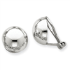 14k White Gold Polished Non-pierced Back Earrings