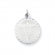 Sterling Silver Caduceus Disc