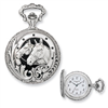 Charles Hubert Anodized Finish Horses Pocket Watch