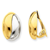 14k with rhodium non-pierced earrings