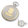 Charles Hubert 14k Gold-plated Two-tone White Dial Pocket Watch