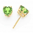14k 6mm Heart Peridot earring
