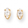 14k 5x2.5mm Marquise Cubic Zirconia earring