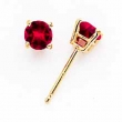 14k 4mm Ruby earring