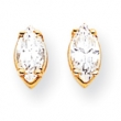 14k 7x3.5mm Marquise Cubic Zirconia earring