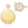 Charles Hubert 14k Gold-plated White Dial with Date Pocket Watch