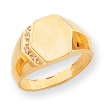 14k Hollow Signet Ring
