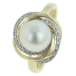 Freshwater Pearl Diamond Ring