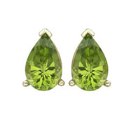 Picture of Pear Shape Peridot Prong Set Studs