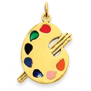 Picture of 14k Enameled Artist Palette Charm