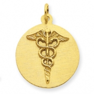 Picture of 14k Caduceus Disc Charm