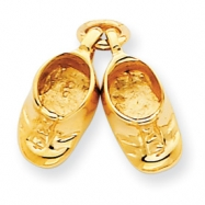 Picture of 14k Polished Baby Shoes Charm