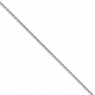 Picture of 14k White Gold 1.4mm Solid D/C Spiga Chain