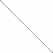 Picture of 10k White Gold .90mm Box Chain