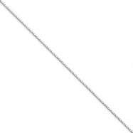 Picture of 10k White Gold 1mm Box Chain