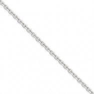 Picture of 14k White Gold 3mm D/C Cable Chain