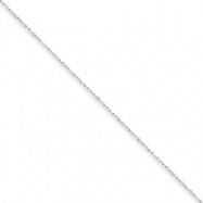 Picture of 10k White Gold .8mm Polished Lite Baby Rope Chain