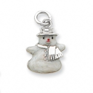 Picture of Sterling Silver Enameled Snowman Charm