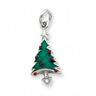 Picture of Sterling Silver Enameled Christmas Tree Charm
