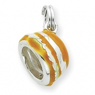 Picture of Sterling Silver Enameled Hamburger Charm