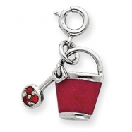 Picture of Sterling Silver Crystal & Enameled Bucket Charm