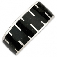 Picture of Sterling Silver Black Resin & Sand Cuff Bracelet