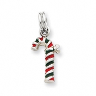 Picture of Sterling Silver Enamel Candy Cane Charm