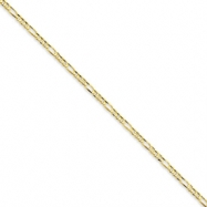Picture of 10k 3.0mm Figaro Chain