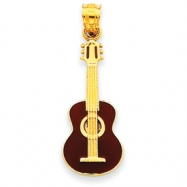 Picture of 14k Enameled Guitar Pendant