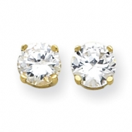Picture of 14k 8mm Moissanite Round Earring
