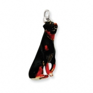 Picture of Silver Enamel Rotweiler Charm