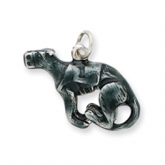 Picture of Silver Enamel Medium Greyhound Charm