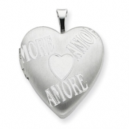 Picture of Sterling Silver 20mm with AMORE Heart Locket chain