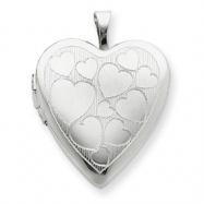 Picture of Sterling Silver 20mm with Floating Hearts Heart Locket chain