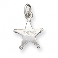 Picture of Sterling Silver Sheriff's Badge Charm