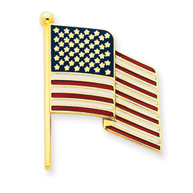 Picture of 14k Enameled Flag Pin Charm