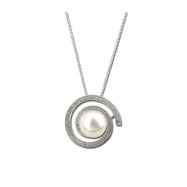 Picture of Pearl Diamond Necklace