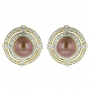 Picture of Pearl Diamond Earring