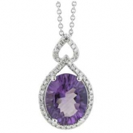 Picture of Amethyst Diamond Necklace