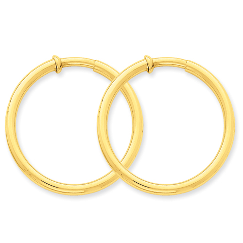 Picture Of 14k Non Pierced Hoop Earrings