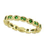 14K Gold Eternity .34ct Tsavorite Stackable Guard Ring