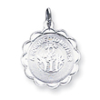 Sterling Silver A Bouquet To Mother Disc Charm