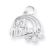 Sterling Silver #1 Madre Charm