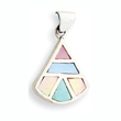 Sterling Silver Mother Of Pearl Fan Shaped Pendant