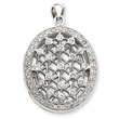 Sterling Silver CZ Locket Pendant