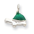 Sterling Silver Green Enameled Turtle